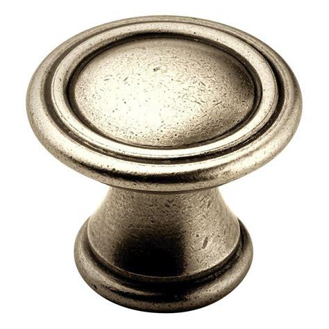antique nickel cabinet pulls amerock 1 3 16 in antique nickel cabinet knob bp24009an