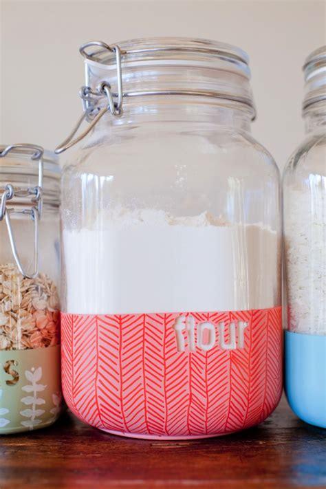 Kitchen Jars Diy Dipped Kitchen Jars This This