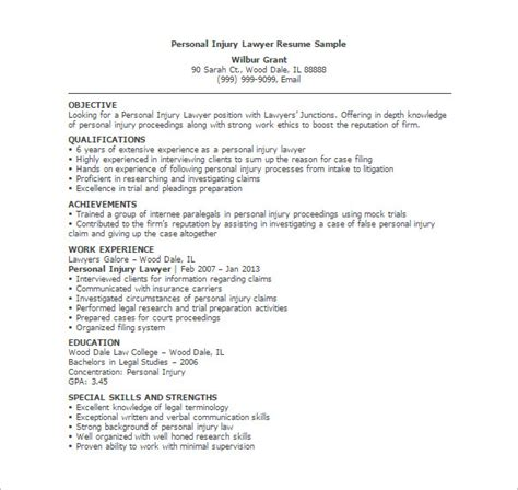 Resume Sample Objective Summary by Lawyer Resume Template 10 Free Word Excel Pdf Format