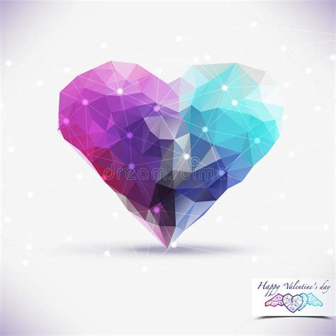 design free stock photo illustration of a colorful abstract geometric colorful background heart shape stock