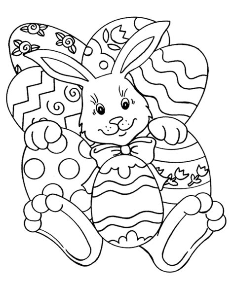 easy coloring pages for easter printable easter rabbit coloring page coloringpagebook com