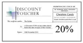Discount Voucher Template Free by Cheshire Cards Discount Voucher Giveaway