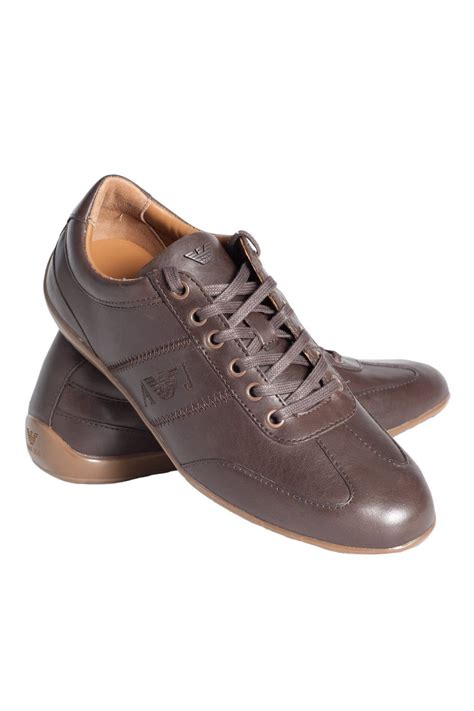 armani shoes armani trainer shoes in black and brown u6534 t4
