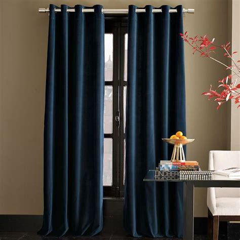 west elm velvet curtains velvet grommet curtain regal blue west elm