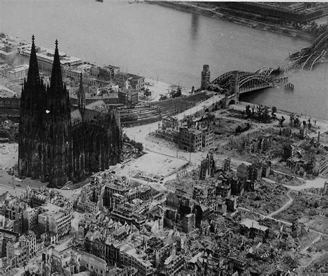 Europe A Few Buildings by Cologne Cathedral In 1944 One Of Few Buildings Left