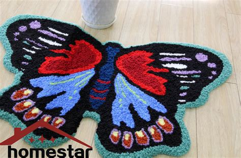 Small Decorative Rugs by Butterfly Floor Mat Embroidery Rug Decorative Rugs Small