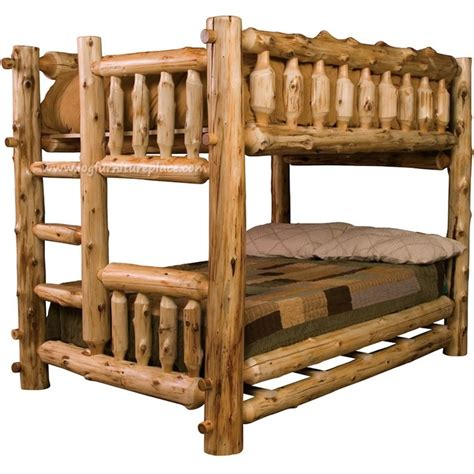 Log Bunk Bed Plans Log Bunk Bed Woodworking Projects Plans