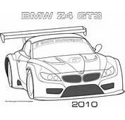 Coloriage  2010 BMW Z4 GT3 Coloriages &224 Imprimer Gratuits