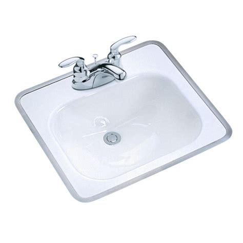 sink in bathroom kohler tahoe drop in cast iron bathroom sink in white with
