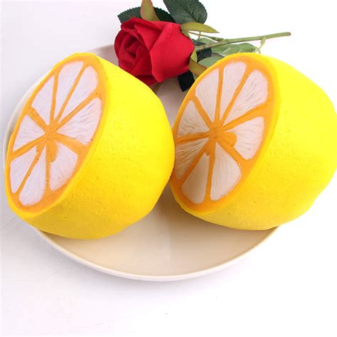 Squishy Punimaru Lemon Jumbo Original sanqi elan squishy jumbo lemon 11cm rising original packaging fruit collection decor gift