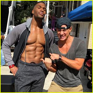 michael strahan out abs channing tatum on the magic mike 2014 october just jared page 104