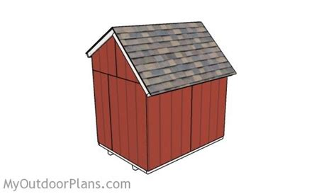 6 By 8 Shed Plans by 6x8 Saltbox Shed Roof Plans Myoutdoorplans Free