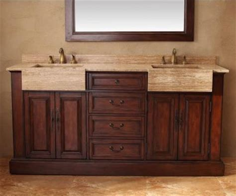 farm sink bathroom vanity malana bathroom vanity with integrated travertine farmhouse sink from antique farm