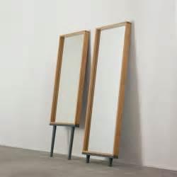 Modern floor standing mirrors on legs in oak 1 jpg
