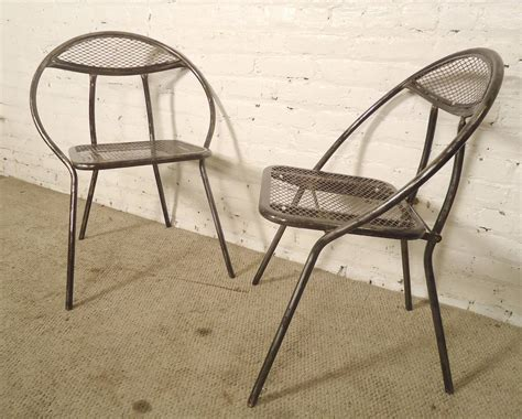 Mid Century Metal Patio Chairs By Rid Jid At 1stdibs Mid Century Patio Chairs