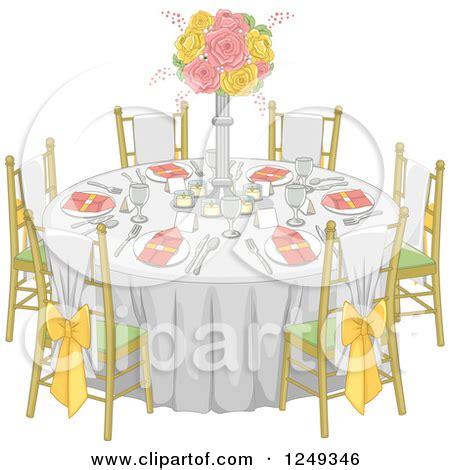 fancy dinner table clipart dinner table setting clipart