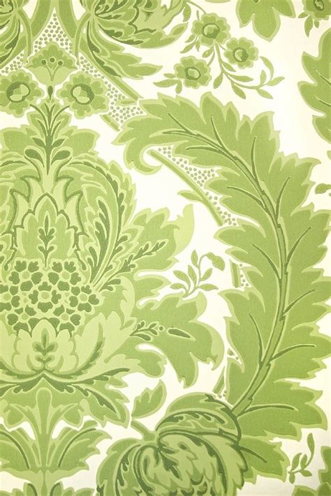 green  white damask wallpaper gallery