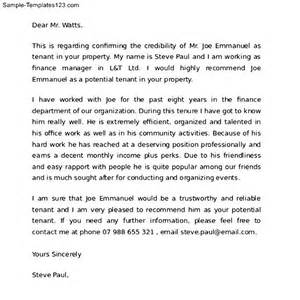 reference letter for a friend renting a house sle