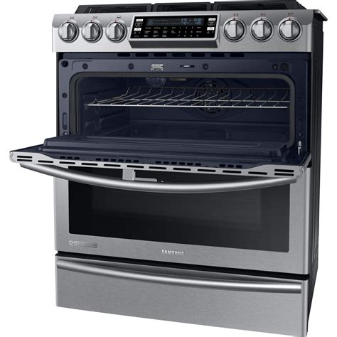 Door Range by Ny58j9850ws Samsung Chef Collection Dual Fuel Range W