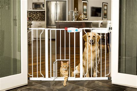 Gate With Pet Door by Carlson 0930pw Wide Walk Thru Gate With Pet Door