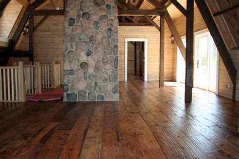 Interior Log Homes Perfect Barn Home With Lean Tos 2