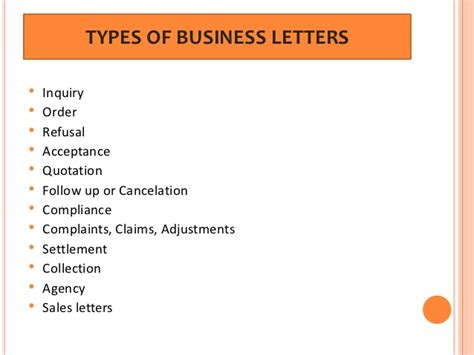 Different Types Of Business Letter And Its Uses 10 types of business letters and sles business