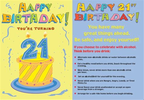 Birthday Cards 21 Years 21 Years Old Birthday Quotes Quotesgram