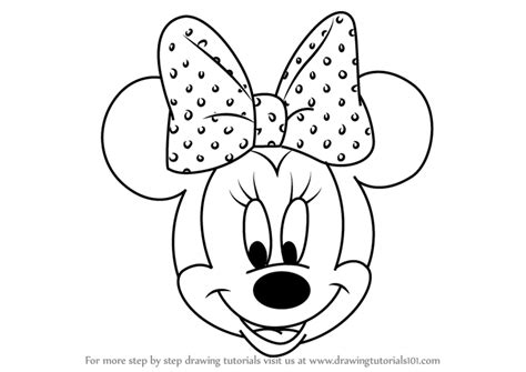 coloring pages of minnie mouse face drawn face minnie mouse pencil and in color drawn face