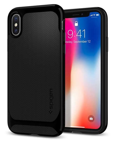 spigen neo hybrid skal till apple iphone x jet black themobilestore