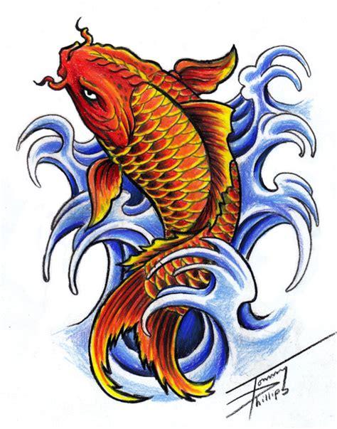 koi fish old school tattoo picture koi fish design by tommyphillips on deviantart