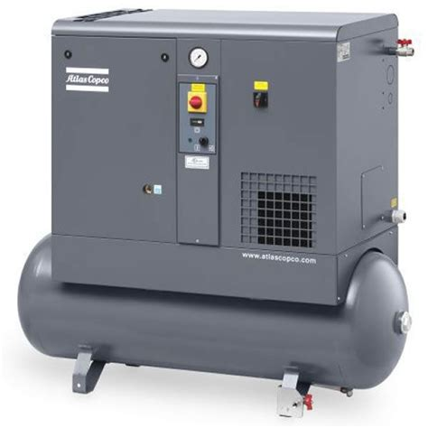 Chion Rotorch Rotary Air Compressor by Atlas Copco Gx4 5 Hp 53 Gallon Rotary Air Compressor 208 230 460v 3 Ph Ebay