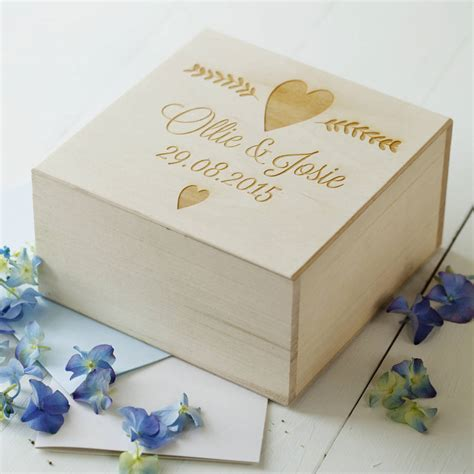 Wedding Keepsake Box by Engraved Wedding Keepsake Box By Seahorse