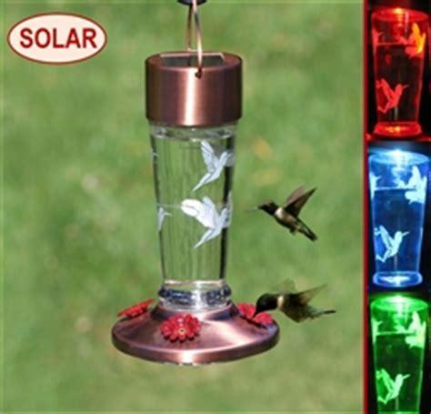 solar lighted hummingbird feeder solar hummingbird feeders attracts hummingbirds by day