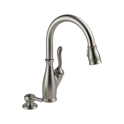 lowes kitchen faucets delta kitchen leland kitchen single handle pull faucet