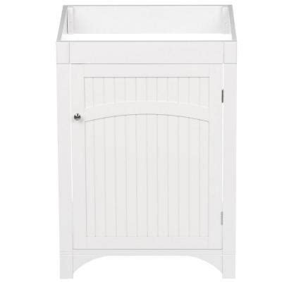 design house cottage vanity design house cottage 24 in w x 21 in d one door unassembled vanity cabinet only in white