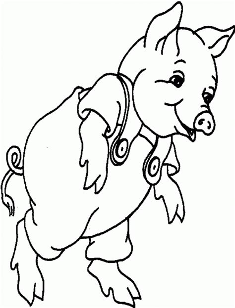 pig coloring pages for toddlers free printable pig coloring pages for