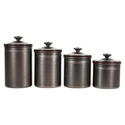 bronze kitchen canisters brushed bronze canisters set of 4 13 deals