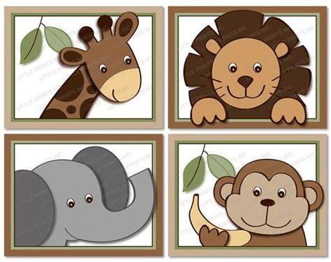 free printable animal wall art cute jungle animal nursery wall art safari nursery wall