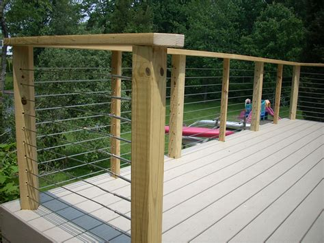 wire banister hog wire deck railing details pictures to pin on pinterest