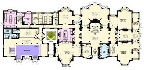 mansion floorplan heath hall main level architecture plans pinterest