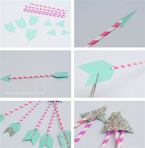 How To Make An Arrow Out Of Paper - paper straw cupid arrows craft crafty