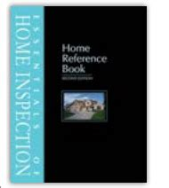 reference books for inspector essentials of home inspection home reference book