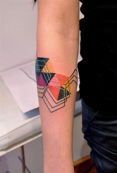 colorful geometric tattoos geometric and pattern tattoos inspiring tattoos