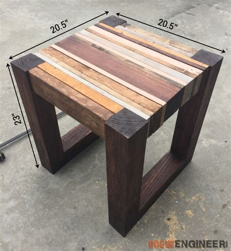 how to build a side table scrap wood side table free diy tutorial rogue engineer