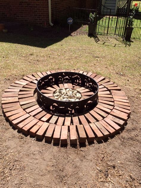 pit made out of pavers i made this pit out of reclaimed bricks