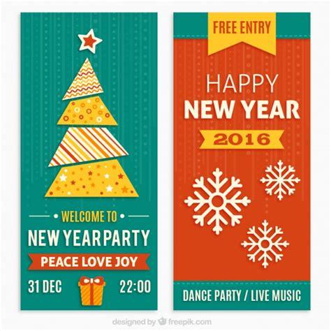 new year invitation design new year invitations in flat design vector premium