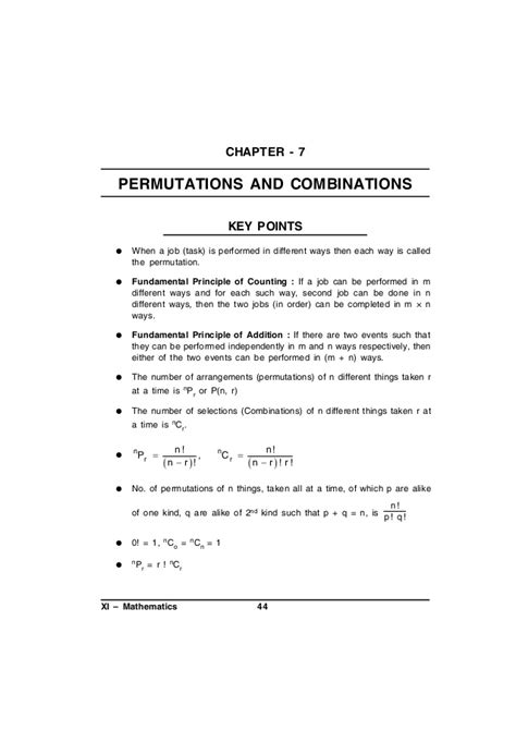 The Fundamental Counting Principle Worksheet by Class 11 Maths Support Material