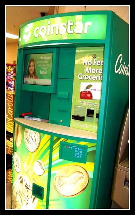 Coinstar Gift Card Fee - no fee for turning your change into a bi lo gift card at coinstar nofeecoinstar
