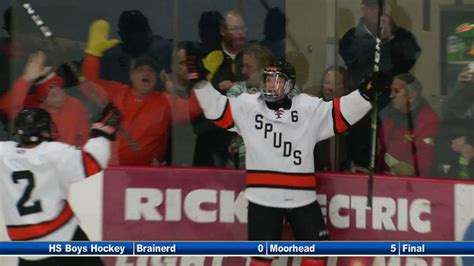 section 8aa hockey moorhead boys hockey advances to section final with