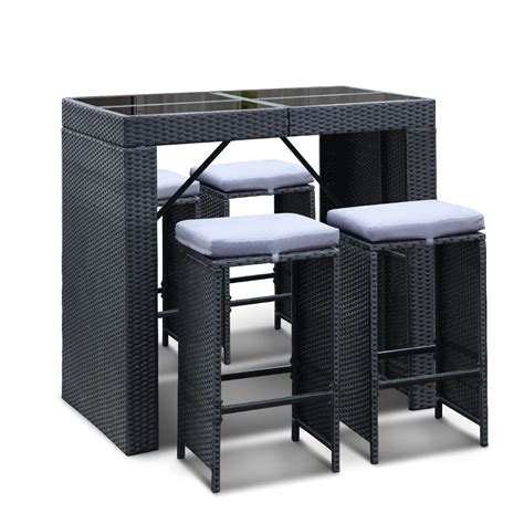 Outdoor Bar Table And Stools 5 Outdoor Bar Table And Stools Set Direct Bargain